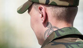 Призывник с татуировкой