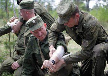Занятия с военнослужащими по оказанию первой помощи