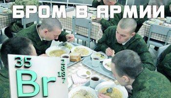 Бром в рационе военнослужащих
