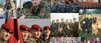 Цвета беретов в армии РФ