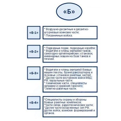 Категории годности Б