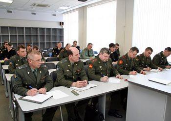 Военнослужащие на переподготовке