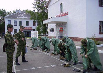Солдаты на боевой подготовке